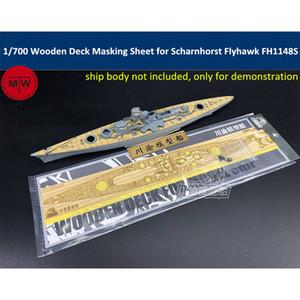 1 700 Scale Wooden Deck Masking Sheet for Flyhawk FH1148S German Battleship Scharnhorst 1943 Model TMW00080