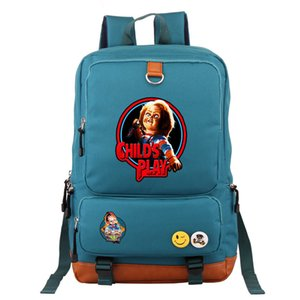 New Chucky Backpack Men Casual Printed Men Travel Outdoor Canvas Backpack Student School Bag Rucksack Colors