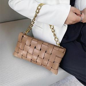 Women Purses and Handbags Luxury Clutches Retro Shoulder Bags For Women 2021 Designer Leather Crossbody Bag Metal Chain Hobo Bag