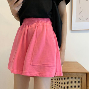 high waist solid pink fashion white Color plus size Women Shorts ropa de mujer short femme pantalones cortos mujer shorts