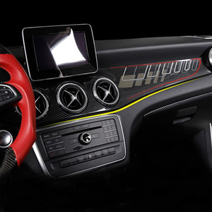 For gla cla250 w117 gla x156 220 gla  cla45 carbon fiber car stickers modified interior control panel accessories