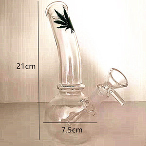 DHL free shipping 21cm high bongs Handmade Glass Smoking Pipe DAB Rig Hookah Glass Water Pipe