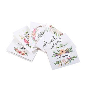 Teşekkür ederim tebrik kartı Şükran günü Noel doğum günü tebrik kartı kağıt çiçek baskılı tebrik kartı BWF1225