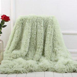 XC Ushio Nouvelle Arrivée Sofa Soza Couverture Multi-Couleur Super Souffle Long Shaggy Feuille Chaud Steps Cadeau de Noël