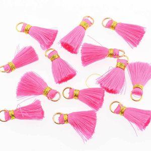 30pcs Mini Polyester Silk Tassel DIY Boho Bijoux Faire fournitures Collier Bracelet Trouver Fringe Garniture Pendentifs Petits Tassels H Bbywsr