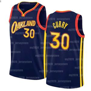 Stephen 30 köri formaları altın devletSavaşçılarJersey Klay 11 Thompson D'Angelo 1 Russell Draymond 23 Green 2020 2021 Yeni Basketbol