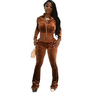 Designer Tracksuits Fashion Pockets Panelled Long Sleeve Long Pants Womens 2PCS Sets Casual Females Clothing Autumn Winter Womens