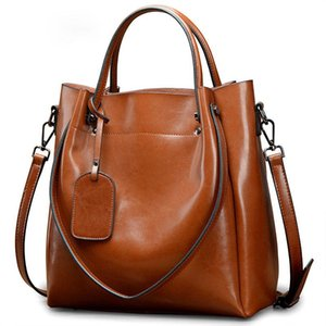 2020 New Style Women's Genuine Leather Crossbody Bags Fshion Cow Leather Casual Simple High Capacity Handbags