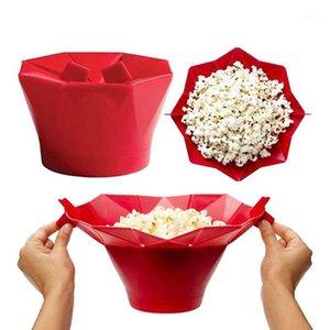 Microondas de silicona Popcorn Bowl Kitchen Tools Easy Tools Doble Magic Hogar Popcorn Maker Contenedor Herramientas de cocina saludables1