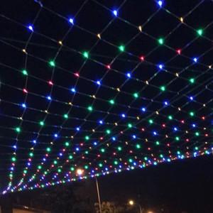 LED outdoor decoração pequena luz de cor piscando seqüência de luzes por todo o céu estrelas pesca cortina nova neonnew líquido do ano