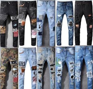 Mens jeans zíper buraco homens jeans de alta qualidade calça jeans casuais homens pants biker calças grandes tamanho grande 28-40