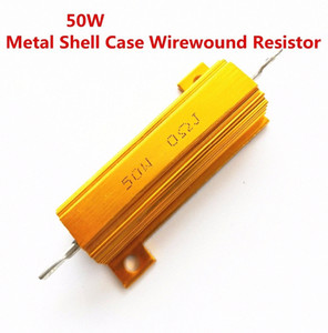 1Pcs full value 50W 0.01 -100K ohm 0.47R 0.5R 0.56R 0.68R 1R 1.5R 2R Wirewound Aluminum Power Metal Shell Case Resista 5% yx8P#