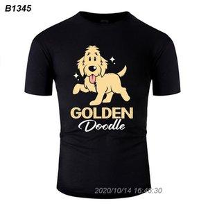 Comical Doodle Dog Goldendoodle Golden Retriever caniche T-shirt Homme Femme 2020 unique Hommes T-shirt Anti-rides Harajuku 21111510
