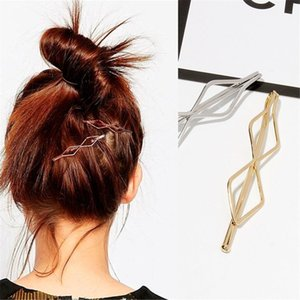 Art und Weise 1pc Frauen-Mädchen-Metallhöhle-Clips Geometric Hairpin Gold-Silber-Farben-Haar-Accessoires
