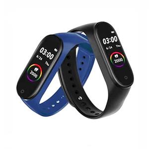 M4 밴드 남성 여성 스마트 시계 스포츠 스마트 팔찌 심박수 혈압 산소 스포츠 트래커 IP68 배터리 iOS 안드로이드