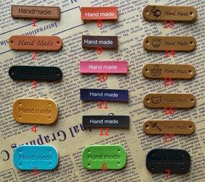 Etiquetas de cuero hecho a mano para ropa para ropa de bricolaje para la etiqueta de cuero de la artesanía de regalo para etiquetas de ropa hecha a mano