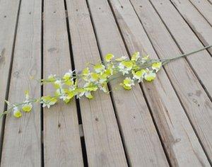Fleur de soie écologique Orchidées artificielles de sol en bouteille de plancher Décor Butterfly Orchidy Orchidy Party Fournitures Fleur Décorative Ewe2507