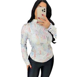 women tops bottom shirt Hoodies Sweatshirts long sleeve tshirt tee fashion panelled womens tops pullover long sleeve for ladies Tops klw6012