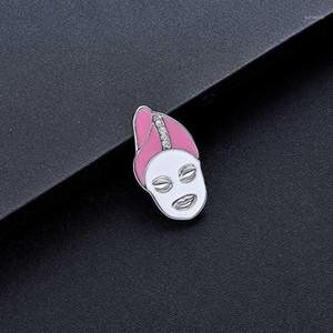 DCarzz Carino Donne Volto Pin Badge Regalo Gold Rose Gold Pins Metal Crystal Jewelry Pin Smalto Pin Donne Accessori1