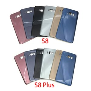 50pcs OEM Back Housing Glass back Cover Battery Door for Samsung Galaxy S8 & S8 Plus + Adhesive free dhl with logo