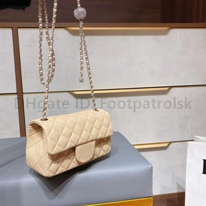 2021 Classic Luxurys Дизайнеры Lady Fashion Crossbody Сумка Высококачественные сумки Diamond Bard Mini Square Black Канал Женщины Сумки