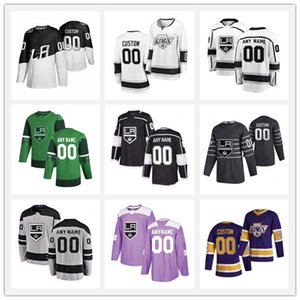Drew Doughty # 8 Jonathan Quick # 32 Wayne Gretzky # 99 Los Angeles Kings Hockey sur Glace Jersey M-XXXL Hommes Sweat Respirant /À Manches Longues T-Shirt Anze Kopitar # 11