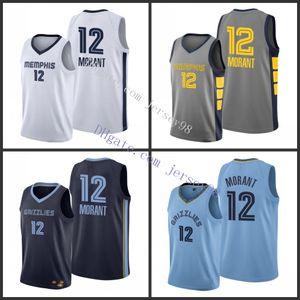 MemphisGrizzliesmenh 12Ja Morant 7Chi mezi MetoNBA Men Basketball jerseys