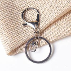 Nuovo Argento Oro Biger catenaccio catene tono chiave Portachiavi rotonda Spalato Keychain Portachiavi Blank metallo Keychains CCB2257