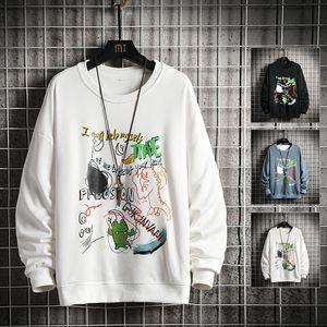 Men spring Dinosaur Embroidery Pullovers Sweatshirts Mens 4 Colors O-Neck Hoodies Male Fashion Korean Sweatshirt