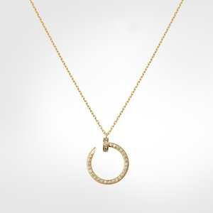 nail necklace gold necklace luxury jewelry diamond necklace love screw necklaces Gold-plated not allergic never fade Gold,Silver,Rose Gold