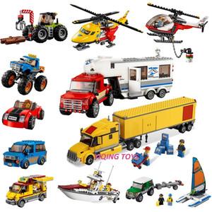Todas las series City Great Vehicles Blocks Blocks Bricks Car Plane SHIP Model Toys para niños Niño Regalo 1008