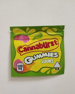 500mg Empty 4 Types Cannaburst Gummies Sours Packaging bag edible rope Nerds Rope Nerds rope Gummy bags