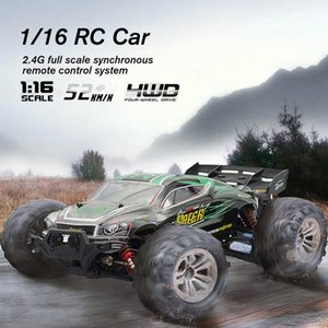 RC Car 4WD Brushed Motors Driving Desert Truck Drive Bigfoot Model Off-Road Vehicle Toy 9138 1 16 Christmas gifts for children