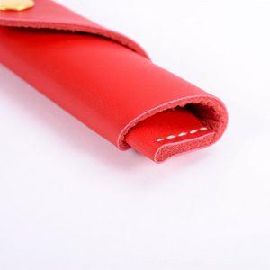 1JAFN Makaron Handknopf Kreative Einfache Ledertasche DIYDIY Makaron Handknopfkoffer Kreative Einfache Leder Stift Tasche Diydiy Stift Fall