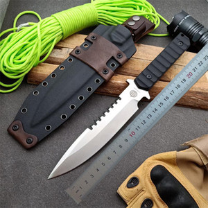 1pcs New OEM Strider Survival Straight Knife DC53 Drop Point Satin Blade Full Tang G10 Handle Knives With Kydex