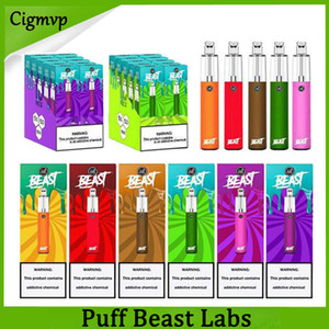 Puff Labs Bestia Vape vapeable Portátil E Cigarette 1500 Puffs Desechable Desechable Kit de cigarrillos 4.0ml Dispositivo Borrar Top Vapor