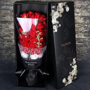 Jour anniversaire de la Saint-Valentin cadeau de Noël Nouveau Savon Fleur Rose 33 Bouquet Savon Fleur boîte-cadeau Simulation Rose Creative Bridal Bouquets