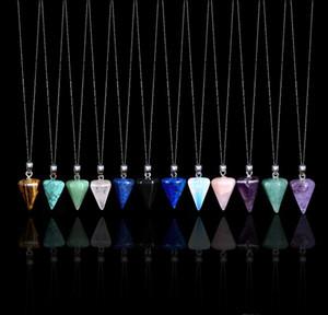 Pendentif en cristal naturel Pendentif Gemstone bijoux améthyste Collier Aquamarine Cadeau Diamond Cadeau de pierre crue Cadeaux Perso bbytvm LG2010