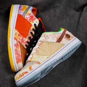 2021 CNY DUNK PRO SB Low Street Hawker Голодные породы недовольны Китайский Новый год Мужчины Женщины Скейтборд Обувь Спортивные кроссовки US5.5-US12