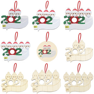Xmas Wooden Pendant Face Mask Snowman Christmas Tree Small Pendant DIY Christmas Decoration