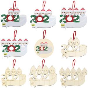 Xmas Wooden Pendant Face Mask Snowman Christmas Tree Small Pendant DIY Christmas Decoration