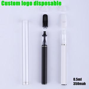 일회용 Vape 펜 FULL 세라믹 장바구니 빈 두꺼운 기름 카트리지 350mAh 배터리 기화기 스타터 키트 0.5ml의 세라믹 코일 E 담배 키트
