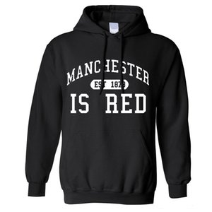 Autumn Winter Men United Kingdom Red Letter Print Men Cotton O-Neck Manchester Hoodies Camisa Masculina tee Hoodies, Sweatshirts Y1109