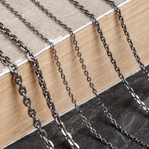 Emith Fla Authentic 100% 925 Sterling Silver Trendy Link Chains Necklace 1.5mm 2.0mm Thickness Necklace Jewelry For Men or Women 201123