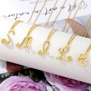 Gold Flower Initial Letter Choker Necklace For Women Stainless Steel Alphabet Pendant Necklaces Collares Chain Jewelry Bijoux1