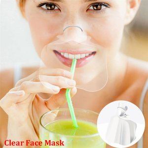 Herramienta de Health Care Mascarilla facial máscaras transparentes anti Permanente Niebla Catering Food Hotel plástico Máscaras Kitchen GWE2423