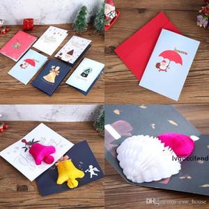 Pop Up Xmas Greeting Card Cartoon Christmas Invitation Card Christmas New Year Baby Gifts Greeting Cards