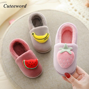 Winter Children Shoes Cotton Slippers Boys and Girls Baby Kids Home Shoes Cute Fruit Plus Velvet Warm Non-slip Baby Slippers1