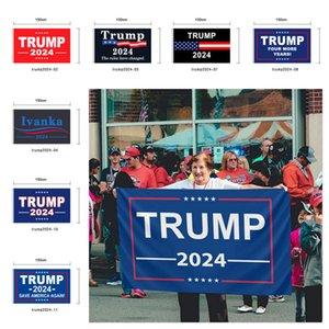 90 * 150 cm Präsident Trump 2024 SAVE Amerika wieder Donald Maga Kag Republikanische USA Flagge Multi Styles Buchstaben gedruckte Flags G20402