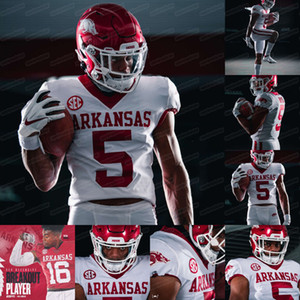 5 Rakeem Boyd 2020 Arkansas SEC Jersey Treylon Burks Feleipe Franks Trelon Smith Khari Johnson Joe Foucha NCAA Kolej Futbol Formalar